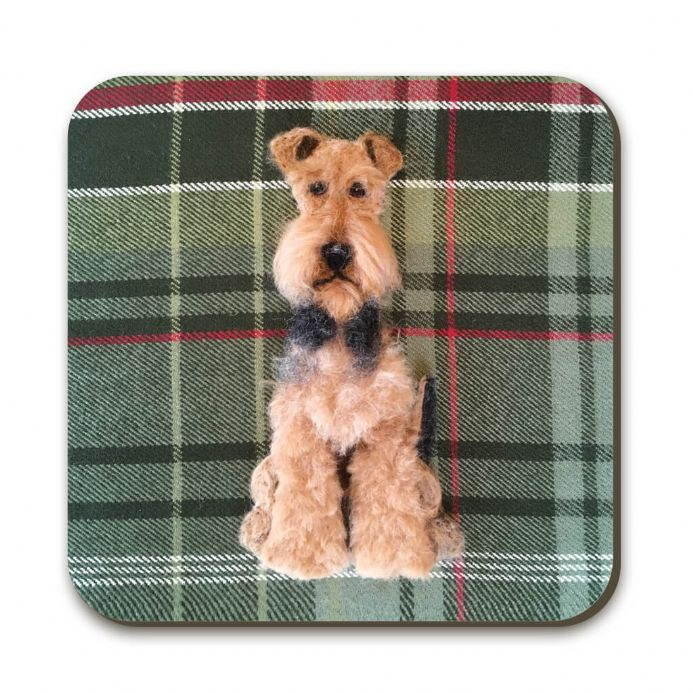 Airedale Terrier Coaster by Sharon Salt